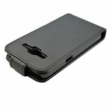 Full Black Leather Case Cover Protector Skin For Samsung Galaxy Core Prime G360
