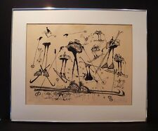 RONALD SEARLE -ORIGINAL 1967 LITHOGRAPH -SKI MELANGE  - PENCIL SIGNED-LISTED