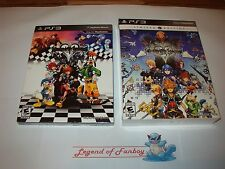 * New * Kingdom Hearts HD 1.5 + 2.5 Remix Limited Edition Sony ps3 Artbook + pin