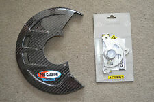 PRO CARBON Front Brake Disc Guard Cover YAMAHA YZ YZF 125 250 450 2004-2013