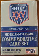 Super Bowl XXV Limited Edition Silver Anniversary Commemorative Card Set