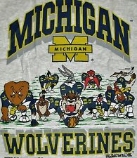 Michigan Wolverines shirt Vintage 90s Looney Tunes sz. XL NCAA gray BRAND NEW