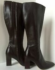 Lord and Taylor Heel Boots Leather Brown size 7M