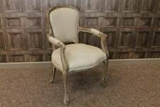 FRENCH STYLE UPHOLSTERED CAFE DINING CHAIRS IN LIMED OAK PARIS CARVER CHAIR