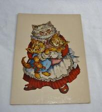 Vintage Pretty Victorian Image Of Mama Cat &Her Kittens All Dressed Up Post Card