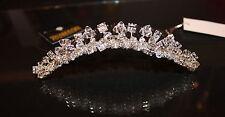 NIB Jessica McClintock JH014 Swarovski & rhinestone bridal tiara comb headpiece