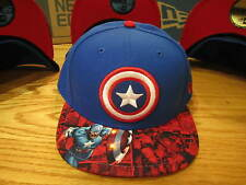 Captain America Shield Marvel Comics New Era Hat Fitted 5950 Size 7 1/2 NWT 0110