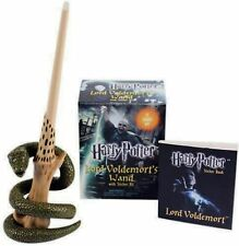 HARRY POTTER LORD VOLDEMORT'S WAND WITH STAND & MINI STICKER KIT, PROP TOY MOVIE