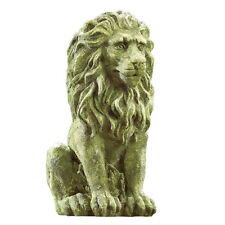Collections Etc Outdoor Moss Lion Statue