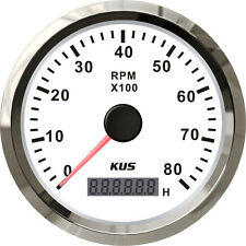 85mm White KUS Tachometer 0-8000rpm for gasoline engine CMHB-WS-8KL (SV-KY07107)