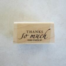 Stampin Up Sincere Salutations Stamp Single Thanks so Much Card Making /Tag Size