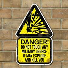 Exploding Military Debris Sign VINTAGE ADVERT METAL SIGN Danger WW2 MOD Sign