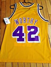 New James Worthy Jersey Champion 40 NBA LA Lakers Mint 50th Gold Kobe Shaq Magic