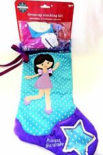 Christmas Stocking Fabric Princess Dress-Up Kit With 4 Costume Pieces