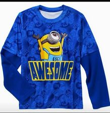 Boy's Despicable Me Long Sleeve Poly Tee Size 6/7