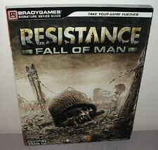 RESISTANCE FALL OF MAN Strategy Guide w/Foldout PlayStation 3 Shooter Insomniac