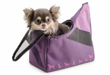 Ancol Extra Small XS Puppy Toy Tiny Dog Carrier Shoulder Travel Tote Bag Purple