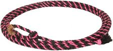 New Pink 20 ft jr kid little looper rodeo roping rope western lasso lariat youth