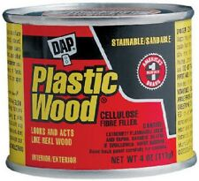 Dap Plastic Wood, 4 OZ, Walnut Color, Cellulose Fibre Wood Filler 21434