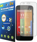 2x Clear LCD Screen Protector Cover Guard Film for Motorola Moto G XT1028 XT1032