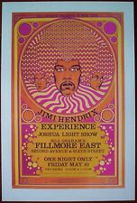 JIMI HENDRIX EXPERIENCE Fillmore East Psychedelic Rock Concert mini Poster