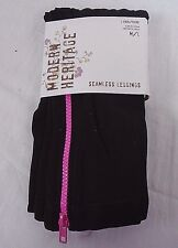 Modern Heritage Seamless Leggings DPCI 025010107 Black with Pink Zipper M/L 24D