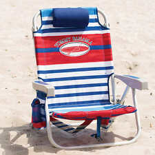 Tommy Bahama Stripe Backpack Cooler Beach Chair  New