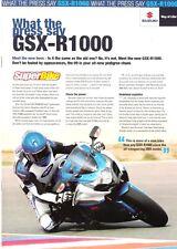 Suzuki GSXR1000 GSXR1000K9 2009 model What the press say sales flyer brochure