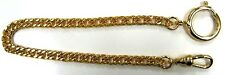 GOLD COLOR POCKET WATCH/VEST CHAIN 8.5 INCHES