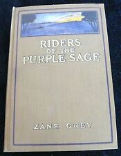 ANTIQUARIAN BOOK RIDERS OF THE PURPLE SAGE ZANE GREY FIRST EDITION WESTERN