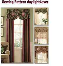 Window Treatment Cover Valance Drape Panel Sewing Pattern 5057 Butterick New   q