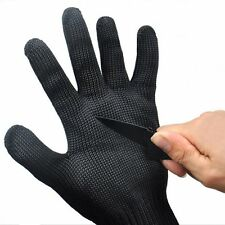 Black Stainless Steel Metal Mesh Wire Cut Resistant Protective Safety Gloves