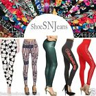 NEW Skinny Colorful Print Sports Leggings Stretchy Sexy Jeggings Pencil Pants