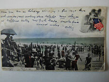 Bathing at Fourth Avenue Asbury Park N J Very Early 1900s Old Postcard 1906