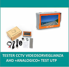 TESTER CCTV AHD + ANALOGIC CCTV VIDEO  MONITOR A COLORI 4,3 TFT CCD  TESTER UTP