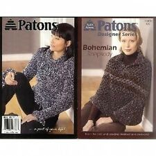 Patons Bohemian Rhapsody Knitting and Crochet Pattern - 6 Designs