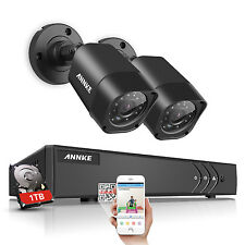 ANNKE 2X720P CCTV Camera 4CH 4in1 DVR Motion Detect Home CCTV TVI Security 1TB