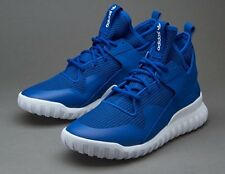 Adidas Originals Tubular X Royal Blue White Trainers Size UK 9.5 EU 44 New