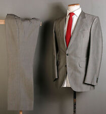 MOHAIR SUIT 36R 32W 29L BROWN WINDOW PANE CHECK WOOL