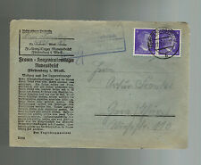 1943 Germany Ravensbruck Concentration Camp Cover KZ Lina Frankl to Graz