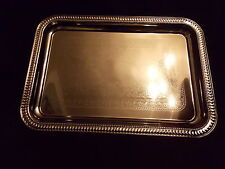 NEW - Silver Platter Rectangle Dish Serving Tray Graduation, Baby Shower Wedding