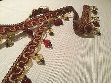 "1.5yd FABRICUT ""Jewelry"" Mansion Beaded Tassel Passementerie Trim No. 3961426"
