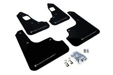 Rally Armor Mud Flaps Guards for 08-15 Lancer EVO X (Black w/Silver Logo)