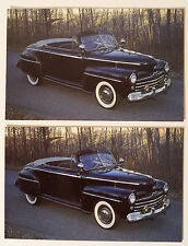 1947 Ford Convertible Automobile Postcards - Must See!!