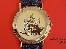 DISNEY MICKEY MOUSE DISNEYLAND 40 Years of Adventure Wrist Watch LE 2000 MIMB VR