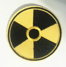 NUCLEAR RADIATION SYMBOL Embroidered Iron On/Sew On Patch