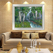 DIY Forest Tree Counted Cross Stitch Kit 5D Diamond Embroidery Set Home Decor