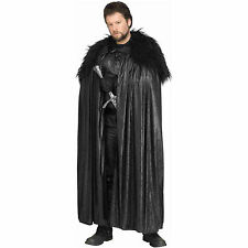 Game of Thrones Jon Snow Black Faux Leather Cloak Cape Costume Adult Regular