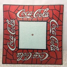 COCA-COLA CEILING LIGHT LAMP SHADE RED/WHITE STAINED GLASS