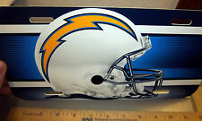 San Diego Chargers NFL football team Plastic License Plate, made in the USA